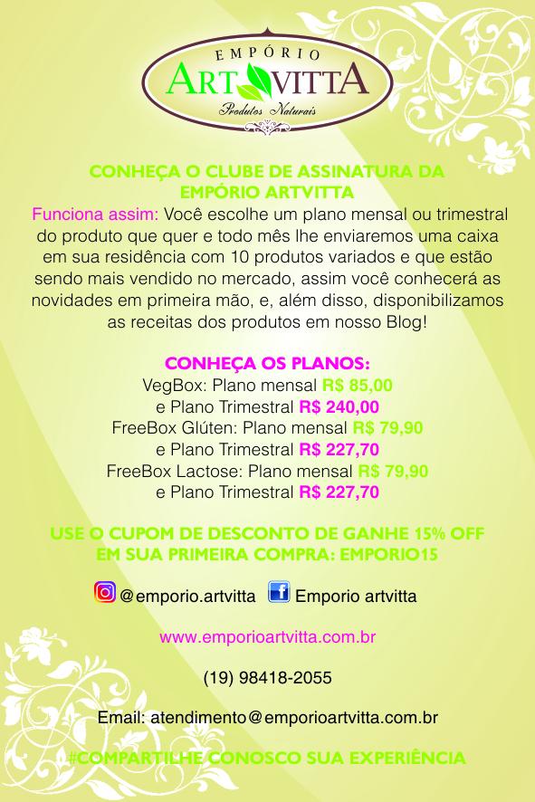 Folder Artvitta 10x15 - Clube de Assinatura